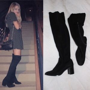 Size 7.5 (38) black over the knee Zara boots